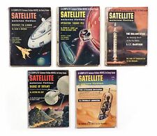 "1957 58 Original Sci-Fi Digest ""SATELLITE SCIENCE FICTION"" LOT OF 5 Leinster!!"