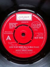 "Muscle Shoals Horns - Born To Get Down b/w Hustle To The Music 7"" Vinyl Demo"