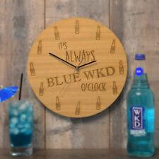It's Always Blue WKD O'Clock Wooden Clock Gift Blue Wicked Lovers Present Idea