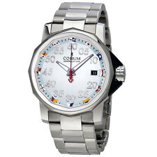 Corum Admiral's Cup Light Blue Dial Stainless Steel Automatic Mens Watch