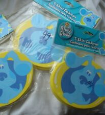 Lot of 3 New Packs of Blue's Blues Clues Dog Tshirt T-Shirt Emblems Foam Sticker