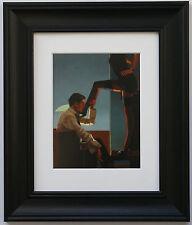 Night Calls II by Jack Vettriano Framed & Mounted Art Print  Erotic Black Frame