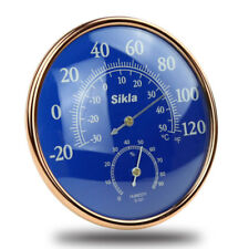 Large Indoor Outdoor  Hygrometer Temperature Meter Test Thermometer Wall W UKGRL
