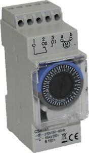 Mechanische Zeitschaltuhr 230V mit Gangreserve für Hutschiene / Verteiler