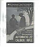 Browning Automatic .22 Cliber Rifle Operations And Care Booklet 1985 p17 PB
