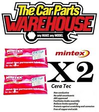 10ml 2x MINTEX CERATEC ANTI SQUEAL GREASE (like Bremtech Pad Goo)Not Copper Ease
