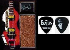 Beatles Paul McCartney Guitar  Pick and Cavern Club Brick  and Film Display