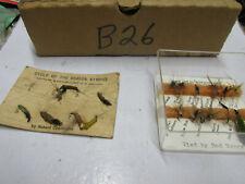 [B26] 19 fishing flys flies, some vintage