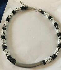 Urban Outfitters Black And White Seed Necklace 18""