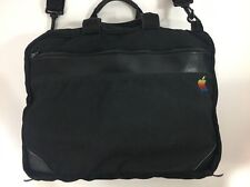 Vintage Apple® Rainbow Logo soft-sided briefcase with handle & shoulder strap