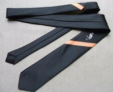 Heron Arancione a righe Skinny SLIM BLACK BIRD da Uomo Cravatta VINTAGE MOD NUOVO