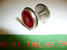 Roue JOUEF HO Essieu loco vapeur diam 16 mm rouge faux rayons - engrenage