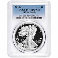 2019-S Proof $1 American Silver Eagle PCGS PR70DCAM Blue Label