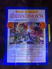 Warhammer Golden Demon 1994 7th Citadel peinture concours Poster signé!