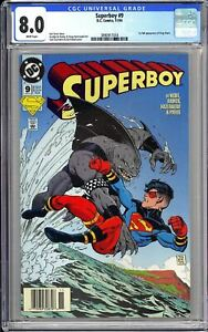 Superboy #9 CGC 8.0 White Pages 1994 3890917018 1st King Shark Newsstand