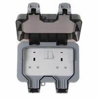 BG WP22 Water proof Outdoor Garden 13A 2 Gang Switched Plug Double Socket IP66