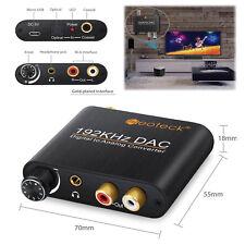 192KHZ Digitale Toslink Coassiale Ottico a analogico Convertitore Audio