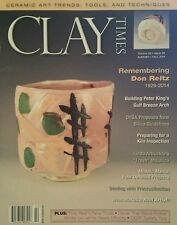 Clay Times Ceramic Art Trends Tools & Techniques  Summer Fall 2014 FREE SHIPPING
