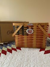 Longaberger 25th Anniversary Magazine Basket, Liner, Protector, Tie-on, Nib
