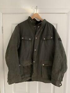 Barbour International Duke Wax Jacket Sage Size L