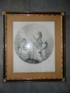 The Song, Duchess of Devonshire. Bartolozzi Engraving aft Bunbury  1782