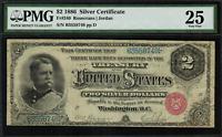 "1886 $2 Silver Certificate FR-240 - ""Hancock"" - PMG 25 - Very Fine"