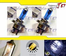 Flosser Silver Blue 5000K White 9003 HB2 H4 100/90W Headlight Bulb Dual Beam OE