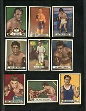 (9) 1951 Topps Ringside Boxing Lot-ex to ex/mt+ #'s 4-94-Maxim,Zale,Cerdan+
