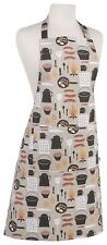 Now Designs Basic Cotton Kitchen Chef's Apron - Camp Cookout Pattern