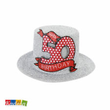 Mini Cappellino 50 Anni con Clips PHOTOBOOTH Scherzo Festa Party Bday Compleanno
