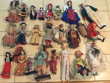 Vintage Ethnic Doll Lot International Souvenir Costume Poor Condition (R)