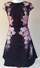 *New* Lipsy Michelle Keegan Floral Textured Skater Dress ~ UK Size 10