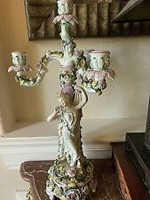 Antique Dresden Porcelain Candelabra 1820s