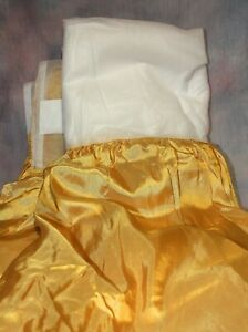 Gold Bed Skirt for FULL Bed style that fits between box spring & mattress ~ nip