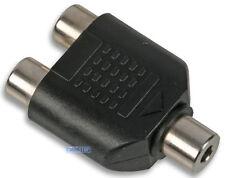 3.5mm Mini MONO Jack Socket to 2 x Twin RCA Phono Female Socket Audio Splitter