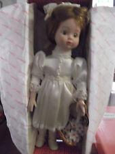 "Vintage Doll, 1991 Brinn's Porcelain ""KATLIN""  COA & Original Box. Auburn Haired"