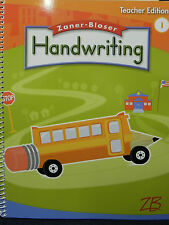 Zaner-Bloser Handwriting (2008, Paperback, Teacher's Edition) 1st Grade Level 1