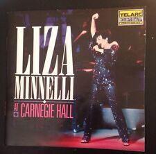 Liz Minnelli At Carnegie Hall 2xCD Telarc 3 Weeks At Carnegie Hall