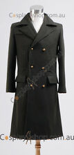 Doctor Who Dr. Dark Green Long Wool Trench Coat Costume Cosplay