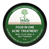 TreeActiv Treatment for Skin Acne and Rosacea Sulfur Mask Plus Bentonite Clay