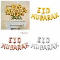 16'' slam Happy Eid Mubarak Ramadan Foil Balloon Decor Gold Silver Balloon /EN