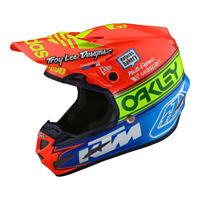 Troy Lee Designs SE4 Composite Team Edition 2 Orange Helmet