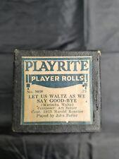 Player piano rolls