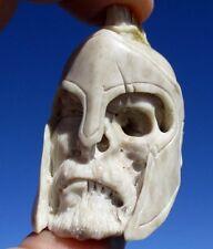 Cavalieri, januskopf, Skull da CORNO SCOLPITO Memento Mori-miracolo camera!