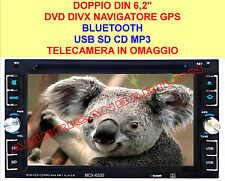 "DOPPIO DIN 6,2"" DVD DIVX NAVIGATORE GPS BLUETOOTH USB SD CD MP3 MONITOR 2 DIN"