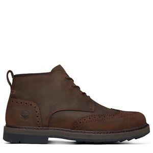 Timberland SQUALL CANYON Waterproof Brogue Chukka Boot IN BROWN rrp £140