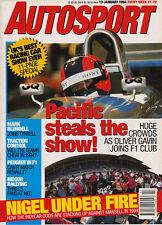 Autosport 13 Jan 1994 - Peugeot in F1, Mario Andretti, Mansell, Mini Cooper 1.3i