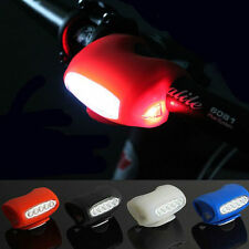 Bike Bicycle Cycling 7 LED Silicone Front Lamp Safety Warning Head Light 4 Color