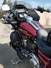 Vivid Black Lower Vented Fairing Kit Leg Warmer for 2014 15 16 17 Harley Touring