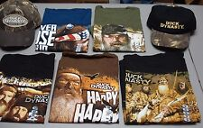 NEW Men's Bulk Lot 72 Duck Dynasty T-Shirts & Caps Variety Of Designs And Sizes